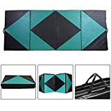 ZENOVA Thick Folding Gymnastics Mat 4'x10'/4'x12′ Large Home Aerobics Exercise Gym Mat Girls Indoor Fitness