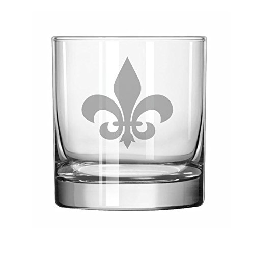 11 oz Rocks Whiskey Highball Glass Fleur-de-lis