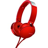 Sony XB550AP Extra Bass On-Ear Headphone, Red (2017 model)
