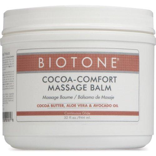 Biotone Cocoa Comfort Baume de Massage 32 once Jar