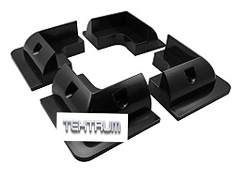 Tektrum Drill-Free UV-Resistant Solar Panel Roof-Top Corner Mounting Brackets for RV, Boats, Caravans, Motor Vehicles, Marine, Roofs, Motorhomes - Set of (Roof Mounting Kit)