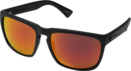 Electric Eyewear  Men's Knoxville XL Matte Black/Optical Health Through Melanin Grey Fire Chrome One - Knoxville Style Single