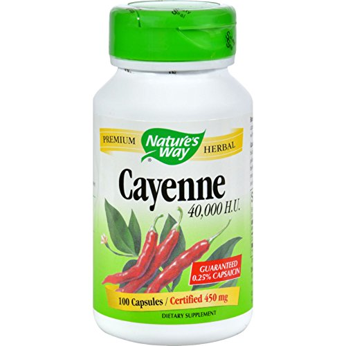 Nature's Way Cayenne and Pepper 450 Mg Capsules, 100 Count ()