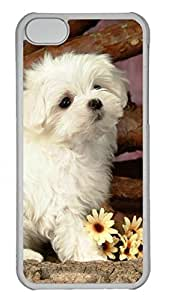 Apple iPhone 5C Case - Lovely Animals White Dog Funny Lovely Best Cool Customize iPhone 5C Cover