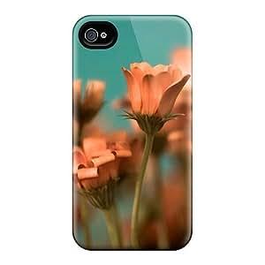 HTC One M7 Fashion Design Orange Flowers Cases-VDB15053xmJy