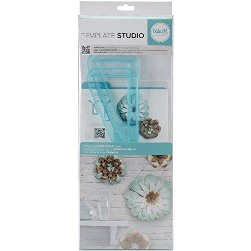 - American Crafts We R Memory Keepers Template Studio Flower Template