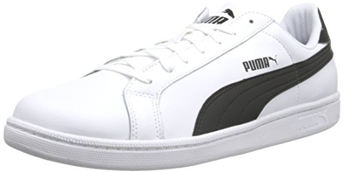 Athletic Men's White Sneaker Black Icon Smash L PUMA xITRwdqfI