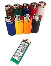 12 Regular Full Size BIC Cigarette Lighters - Assorted BIG BIC