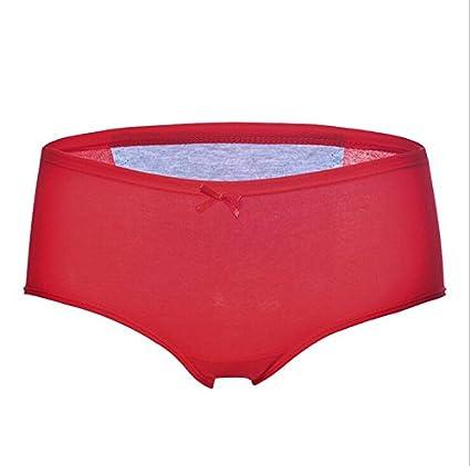 Alamor 3-Pack Briefs De Mujer Chicas Soft Breathable Algodón Ropa Interior Fisiológica Nueva Fuga