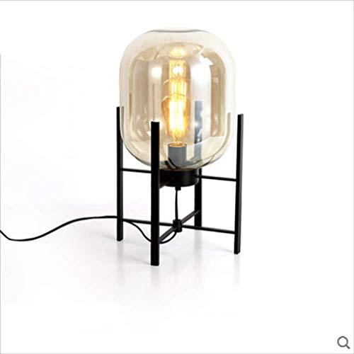 Post-moderno Dormitorio Creativo Noche Luz Lampara Dick Lampara Nordica Decoracion Del Hogar Humo Gris Vidrio Personalidad Comedor Mesa De Iluminacion