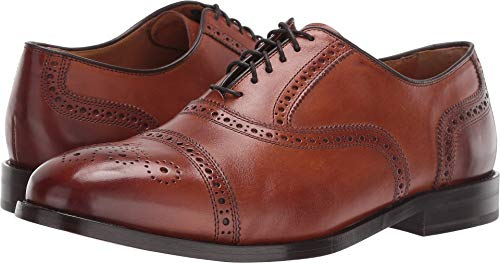 Cole Haan Men's Kneeland Brogue Cap Toe Oxford British Tan 13 D US