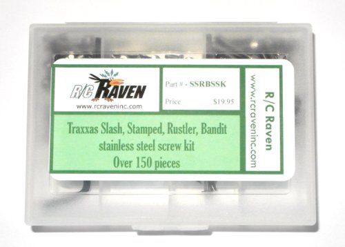 Slash, Stamped, Rustler, Bandit stainless steel screws by RC Raven