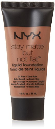 NYX PROFESSIONAL MAKEUP Stay Matte but not Flat Liquid Foundation, Cocoa, 1.18 Fluid Ounce