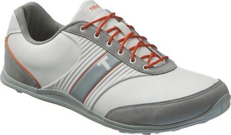 [TRUE linkswear] メンズ真モーションゴルフスニーカー 11.5 D(M) US White, Burnt Orange, Grey B00V4FJHZE