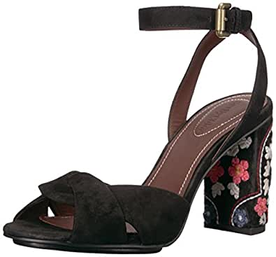 See By Chloe Women's Galya Heeled Sandal, Nero, 36 M EU (6 US)