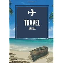 Travel Journal: Beach Cover | Ruled, Blank & Lined Page Travellers Notebook, Books, Scrapbook, Planner, Keepsake, Log, Memories | Destination Checklist | Medium Softback