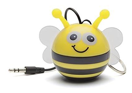 KitSound Mini Buddy Haut-Parleur Universel avec Prise Jack 3.5mm Compatible avec les Smartphones- Tablettes et MP3 – Abeille