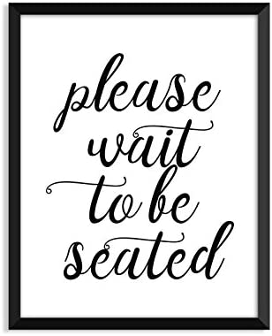 Amazoncom Please Wait To Be Seated Wedding Signs Wedding Gift