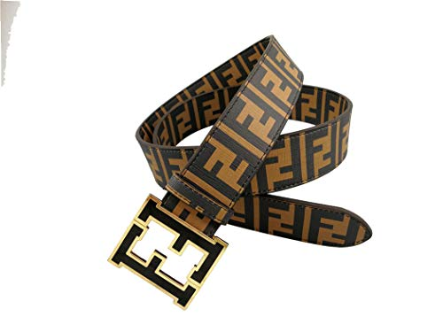 Fashion Men's belts Alloy buckle pants dress belt (Coffee color, 115cm) ()