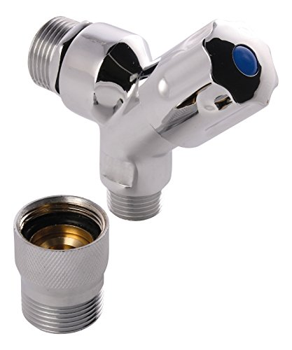 Sanitop-Wingenroth Outlet Valve with Tube Diffuser Backflow Preventer 1/2Inch Chrome-Plated Set of 1, (Bagless Valve)