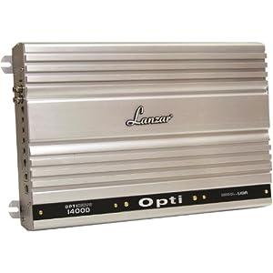 Lanzar Amplifier Car Audio, Amplifier Mono Block, 1300 Watt, 1 Ohm Stable, Class D, MOSFET, RCA Input, Bass Control, Mobile Audio, Amplifier for Car Speakers, Car Electronics (OPTI1400D)