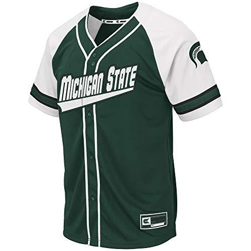 Colosseum Mens Michigan State Spartans Wallis Baseball Jersey - M