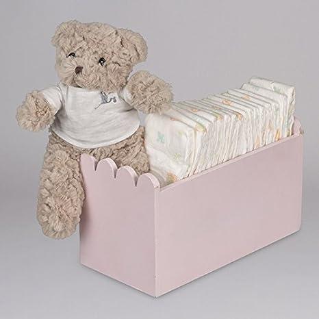 Canastilla regalo bebé Happy Caja Madera Pañales- BebeDeParis ...