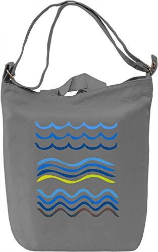 Wave Borsa Giornaliera Canvas Canvas Day Bag| 100% Premium Cotton Canvas| DTG Printing|