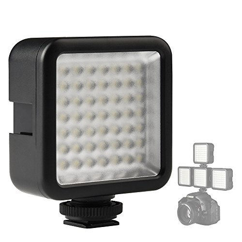 SUPON 49 LED Continuous On Camera LED Panel light,Portable Dimmable Camera Camcorder Led Panel Video Lighting for DSLR Camera Canon,Nikon,Sony,Panasonic,Olypus,Fuji,Neewer Godox Led lighting(1xPcs) by SUPON
