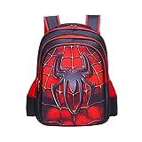 Superhero Boys' 3D School Backpack,16.5 Inch, Waterproof Bookbag for Kids Age 7 to 12 Year (Spiderman)