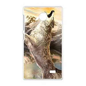 Wolf Roaring To The Sky Phone Case for Nokia Lumia X