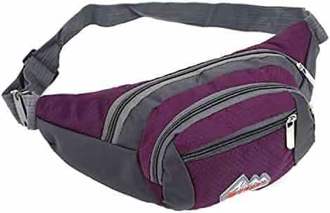 Waist Packs,Ruhiku Running Camping Sport Belt Water Bottle Pocket