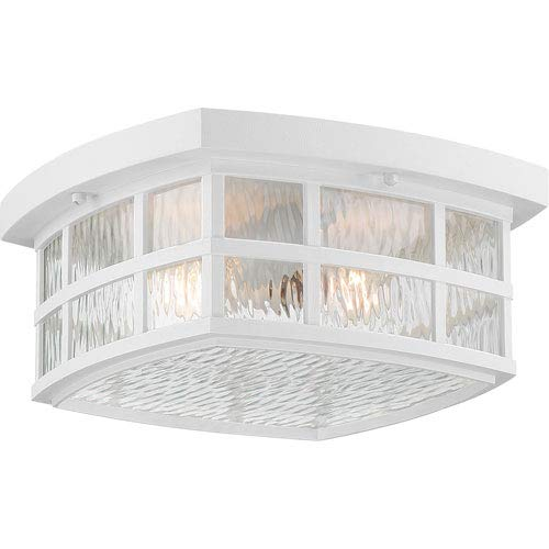251 First Grace White Two-Light Outdoor Flush Mount ()