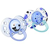 Tommee Tippee Night Time Pacifier, 18-36 Months 2 Count (Colors will vary)