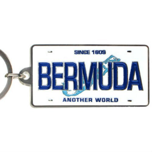 (Bermuda Caribbean License Plate Metal Rectangular Souvenir Keychain 2.25