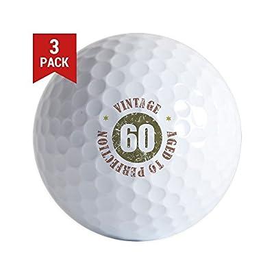 CafePress 60Th Vintage Birthday Golf Balls (3-Pack), Unique Printed Golf Balls