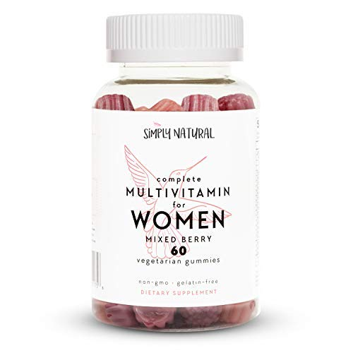 (Simply Natural Women's Complete Gummy Vitamins, Non-GMO, Chewable Adult Daily Multivitamins, Vegetarian-Friendly Pectin, 60 Count (30 Day Supply))