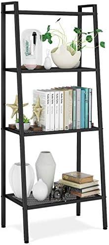 HOMFA Metal 4 Shelf Bookcase