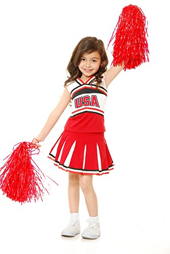 Charades USA Cheerleader Children's Costume, Large