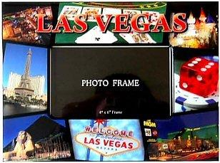 Las Vegas Picture Frame - 4X6 Red, Las Vegas Picture Frames, - Vegas Frame