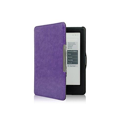 Meijunter Purple Flip Slim Auto Sleep PU Leather Shell Cover Case For Kobo Glo HD & Kobo Touch 2 eReader
