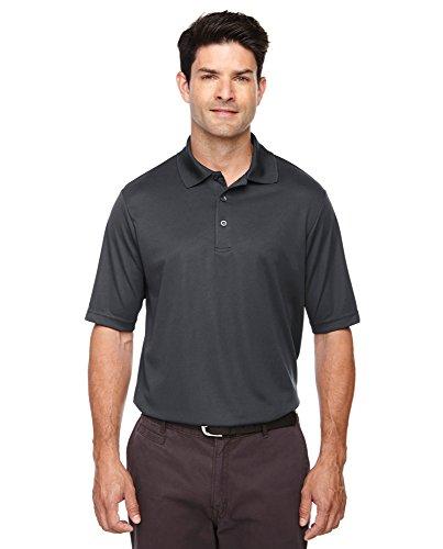 (LogoUp Men's Core 100% Polyester Performance Dri-Tech Polo - 2X Large - Carbon)