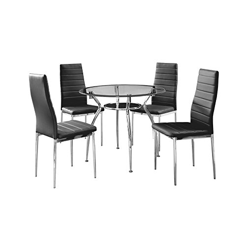 IDS Online IDS-17430 BK 5 Piece 5 Dining Round Set, Kitchen