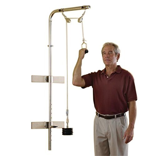 Sammons Preston Overhead Pulley, Wall Mounted Easy Glide Shoulder Exerciser & Workout Station for Occupational & Physical Therapy, Upper Body Rehabilitation Aid for Strength, Mobility, & Flexibility by Sammons Preston