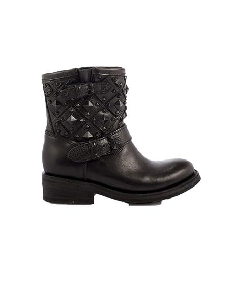 a9c82eb9a16 ash - Botas de Cuero para Mujer Negro Negro: Amazon.es: Zapatos y  complementos