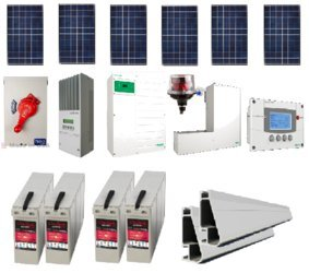 Grid-tied 1.65kw Residential Home Solar System With Battery Backup