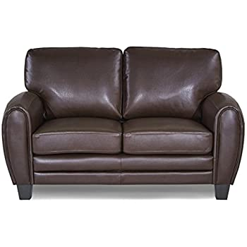Homelegance 9734DB-2 Upholstered Loveseat Bonded Leather Match, Dark Brown