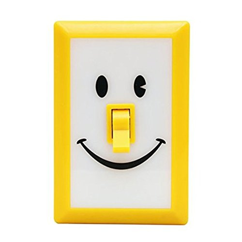 Time Concept SMiLE Soft LED Switch Light - Dandelion - For Bedroom, Entryway, Battery-Operated