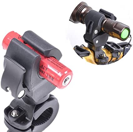 360° Degree Bicycle LED Flashlight Mount Holder For Bicycle Torch Clip Clamp