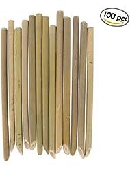 BambooMN Brand 7 Organic Reusable Bamboo Drinking Straws 100 Pieces